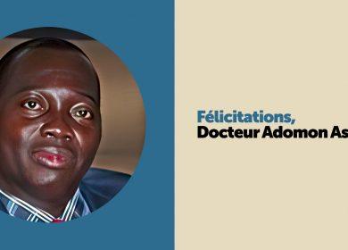 Félicitations – Docteur Adomon Assande !
